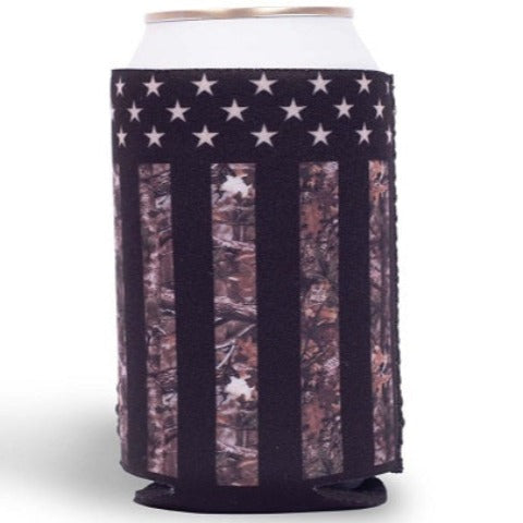Camo Stars and Stripes Can Holder