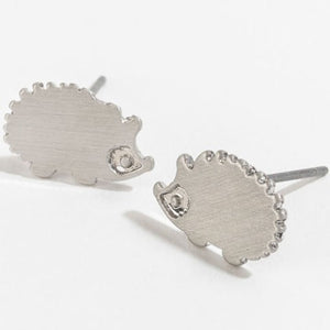 Hedgehog Stud Bud Earrings