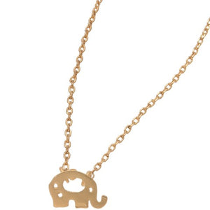 Elephant Stud Bud Necklace