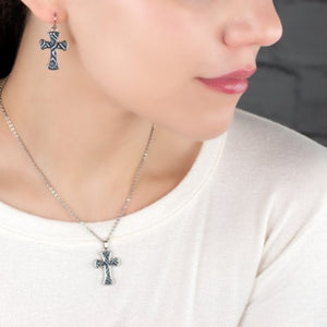 Black & White Reversible Cross Necklace