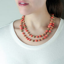 Coral Crush 2-Length Beaded Necklace