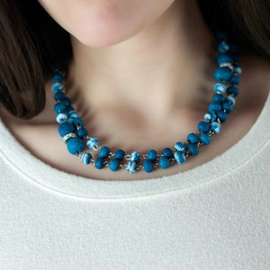 Navajo Blue 2-Length Beaded Necklace