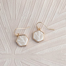 Summer Sand Hexagon Reversible Earrings