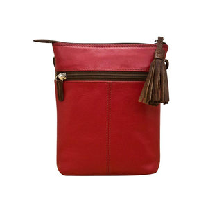 Whipstitch Leather Crossbody Bag