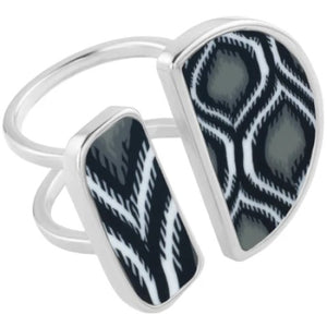 Black & White Double Cocktail Ring