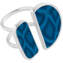 Navajo Blue Double Cocktail Ring