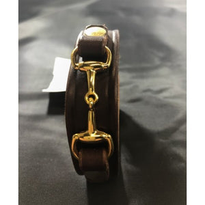 Leather Bracelet with Bit