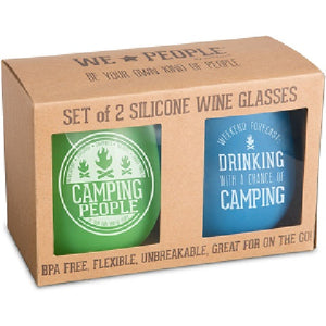 Camping People Wine Glasses