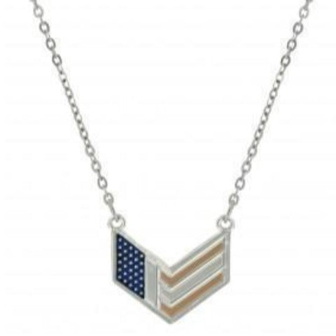 Chevron American Flag Necklace
