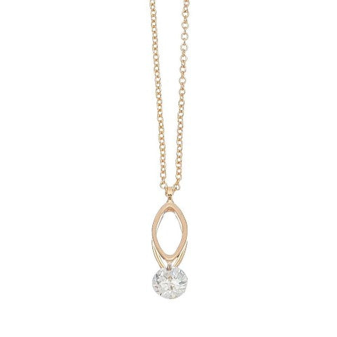 Cubic Zirconia Double Oval Dazzler Necklace