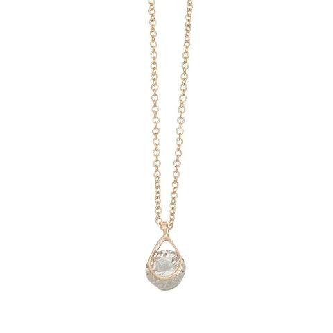 Cubic Zirconia Wire Teardrop Dazzler Necklace