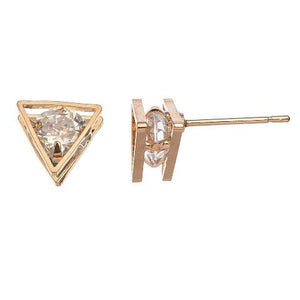 Cubic Zirconia Triangle Frame Pendant