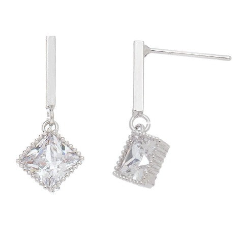 Cubic Zirconia Diamond Drop Pendant