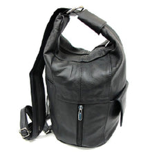 Adjustable Leather Backpack