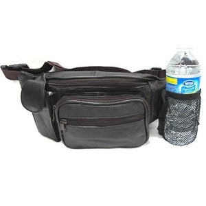 5-Pocket Leather Fanny Pack