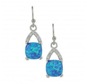 Square Opal Earrings