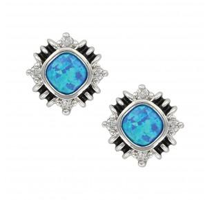 Southwestern Opal Stud Earrings