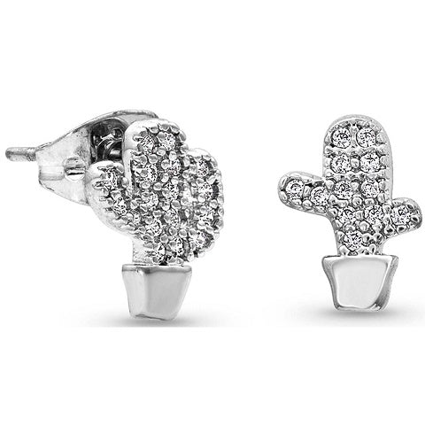 Cactus Cubic Zirconia Earrings