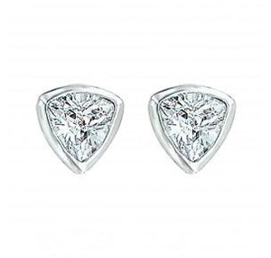 Triangle Trillion Cut Earring