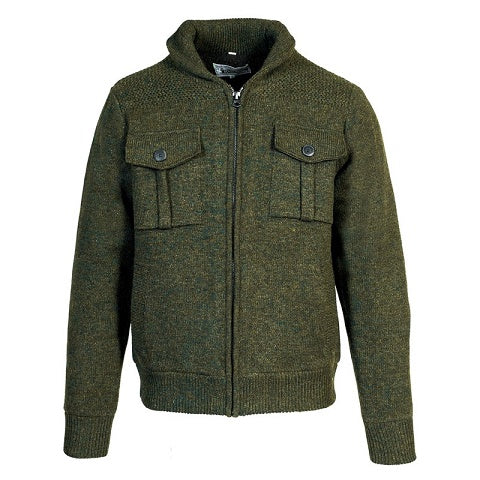 Military Sweater Jacket