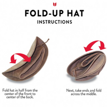 Fold Up Leather Hat