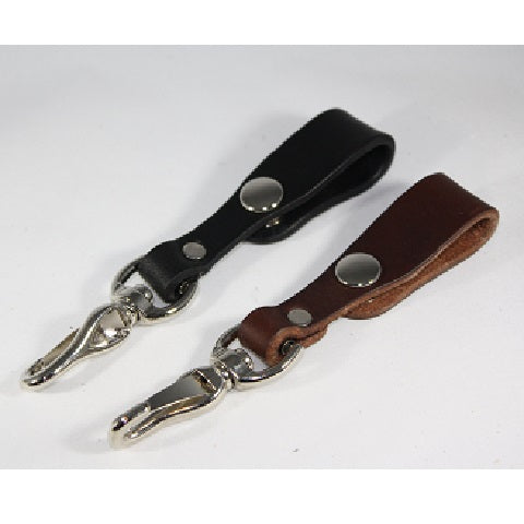 Leather Keychain with Snap
