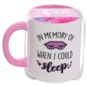 In Memory of When I Could Sleep Mug with Socks