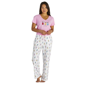 Refreshing Jars Print Snuggle Up Sleep Pant