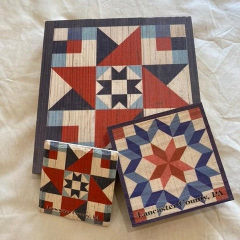 Red White Blue Barn Quilt Wall Hanging