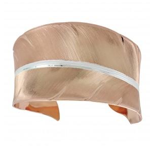 Rose Gold Feather Cuff Bracelet
