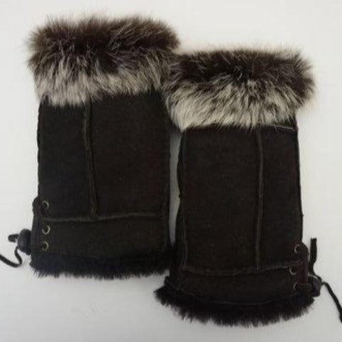 Shearling Fingerless Gloves