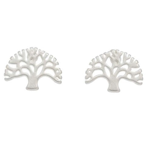 Tree of Life Stud Bud Earrings