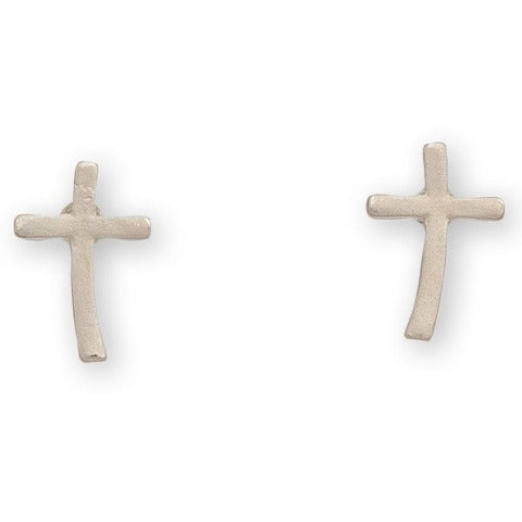 Cross Stud Bud Earrings