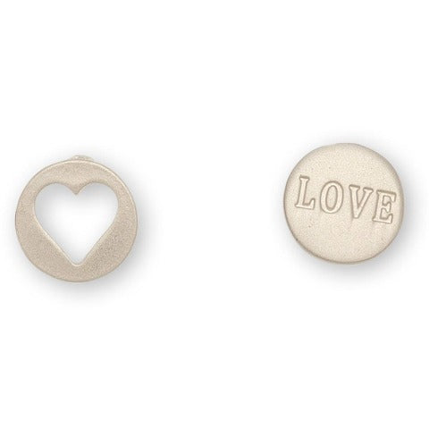 Heart Love Cutout Stud Bud Earrings