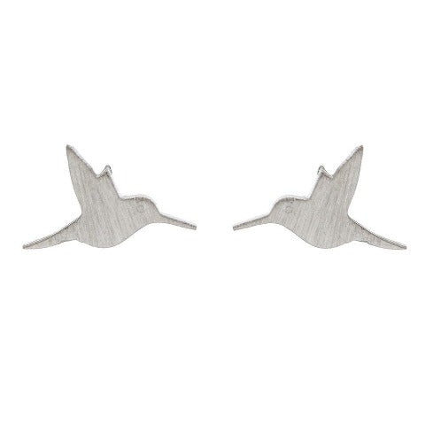 Hummingbird Stud Bud Earrings