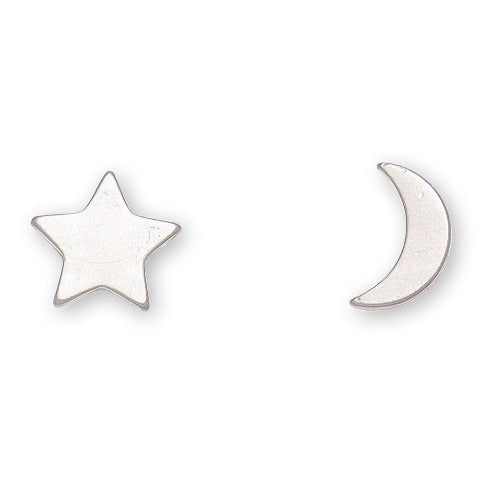 Moon & Star Stud Bud Earrings