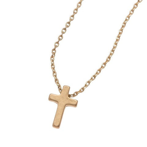 Cross Stud Bud Necklace