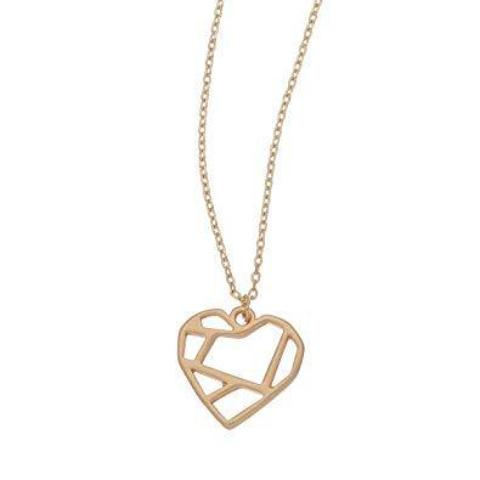 Geo Heart Stud Bud Necklace
