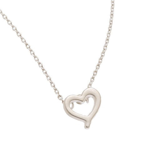 Heart Stud Bud Necklace