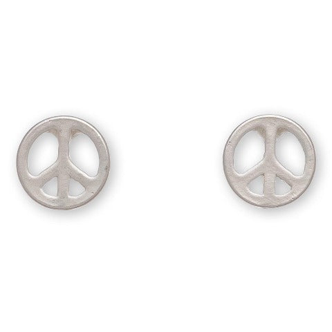 Peace Sign Stud Bud Earrings