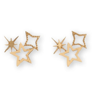 Star Cluster Stud Bud Earrings