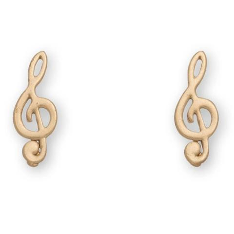 Treble Clef Stud Bud Earrings