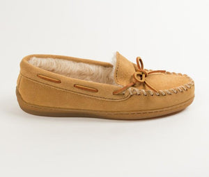 Tan Suede Sherpa Slippers