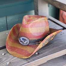 Toyo Straw Western Hat with Eagle