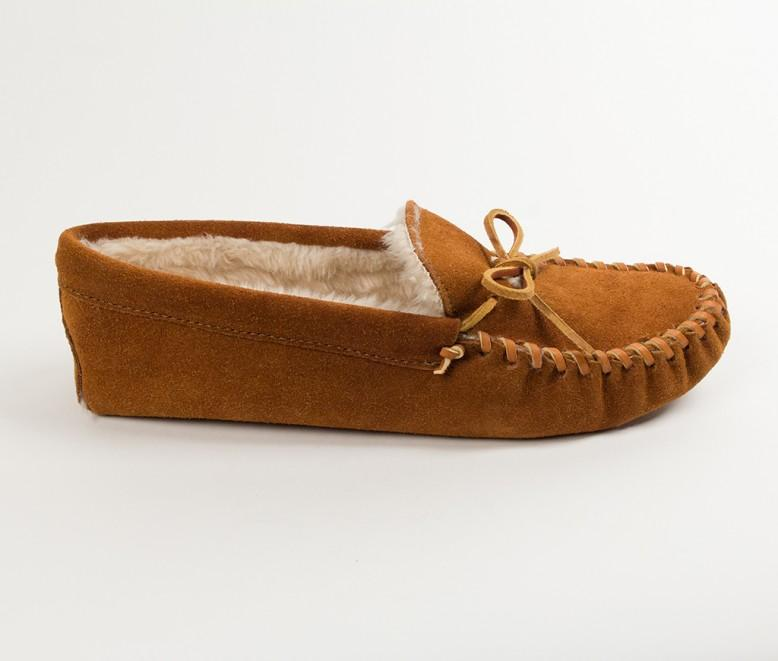 Pile Lined Soft-sole Moccasins