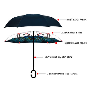 Peacock Inverted Umbrella