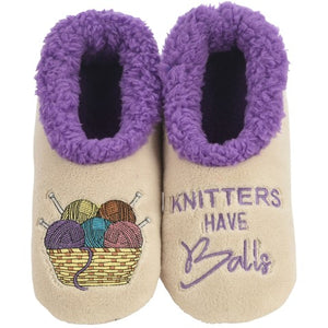 Knitters Have Balls Slippers