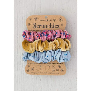 Floral Velvet Scrunchies Set