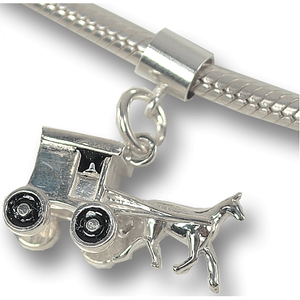 Horse and Buggy Charm