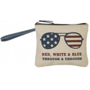 Red White & Blue Wristlet
